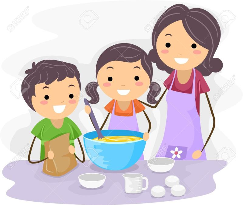 Family cooking clipart jpg royalty free Family Cooking Cliparts - Making-The-Web.com jpg royalty free