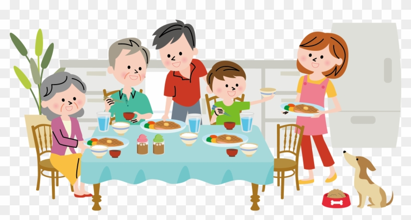 Free clipart of people eating dinner picture royalty free download 19 Family Dinner Vector Royalty Free Library Huge Freebie - People ... picture royalty free download