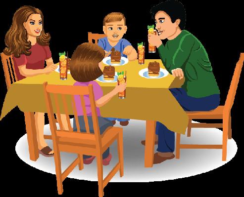 Family dinner clipart free svg freeuse stock 75+ Family Dinner Clipart   ClipartLook svg freeuse stock