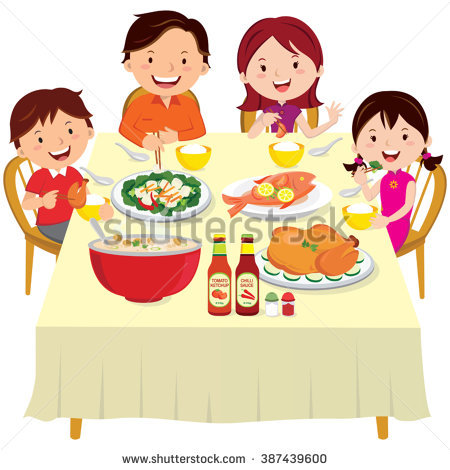 Family around a dinner table clipart picture royalty free download Family Dinner Table Clipart - Free Clipart picture royalty free download