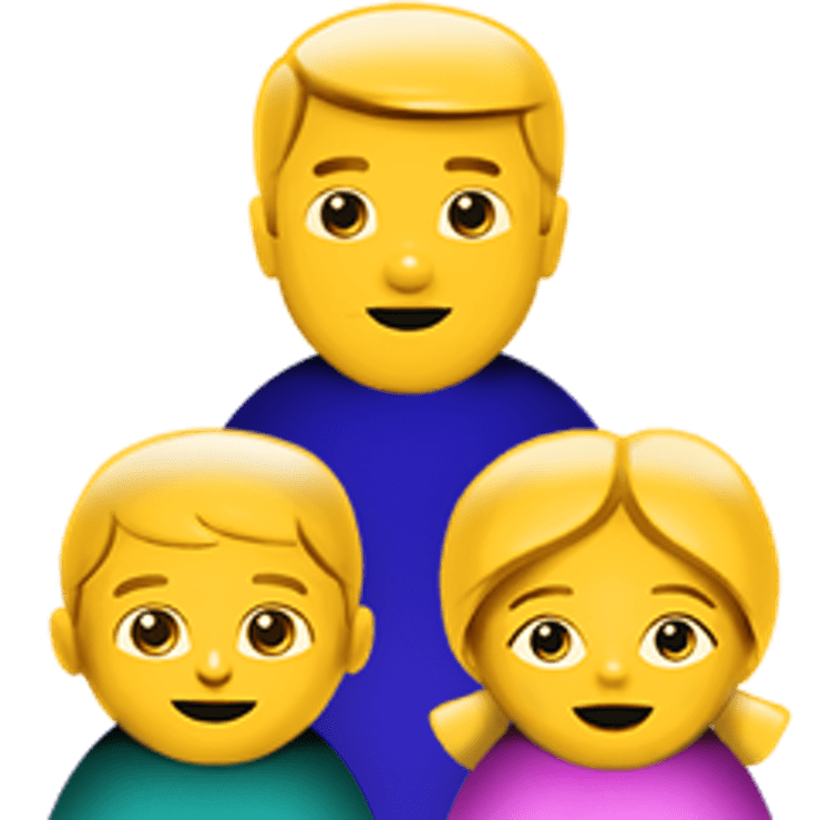Family emoji clipart png download Single Parent Family Emoji transparent PNG - StickPNG png download