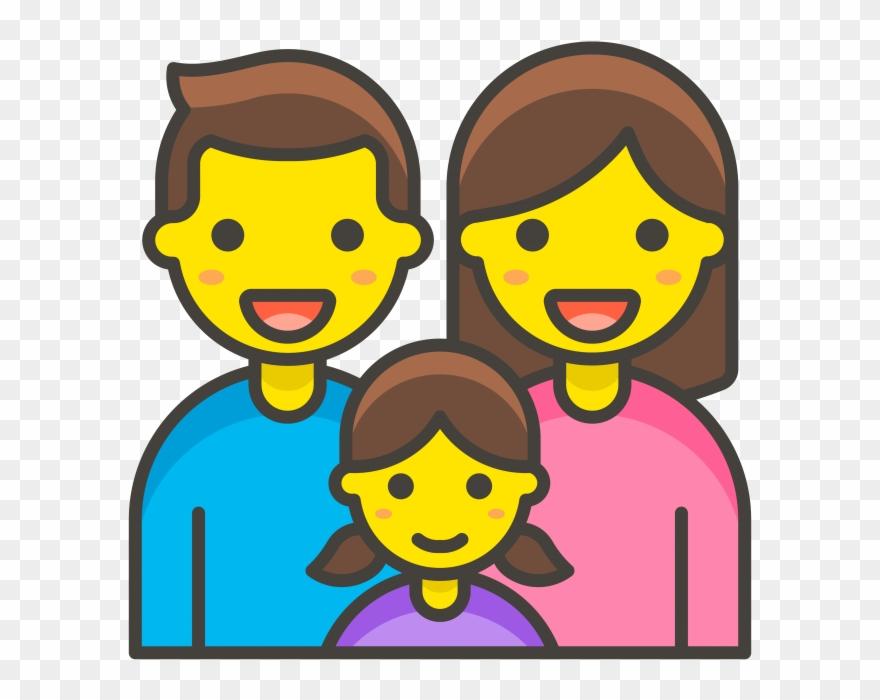 Family emoji clipart jpg free download Family Man Woman Girl Emoji - Emojis De Una Familia Clipart ... jpg free download