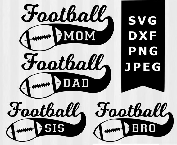 Family football clipart image free library Family Football SVG Football clipart Football by 5StarClipart - Clip ... image free library