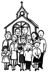 Family going to church together clipart black and white image library library Formation | Blogger Priest image library library