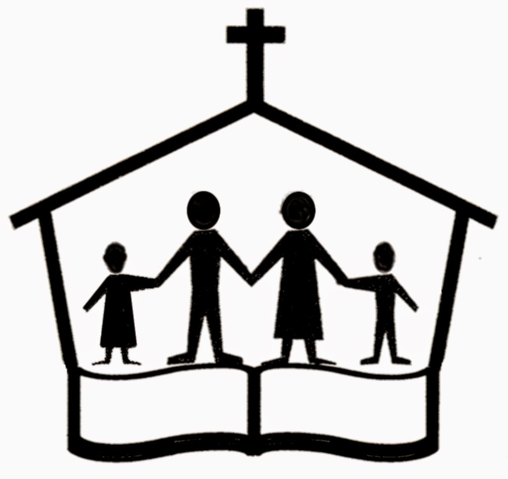 Family going to church together clipart black and white clip royalty free stock Going To Church Clipart | Free download best Going To Church Clipart ... clip royalty free stock