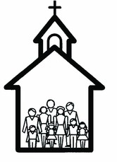 Family going to church together clipart black and white clip royalty free 79+ Church Clipart Black And White | ClipartLook clip royalty free