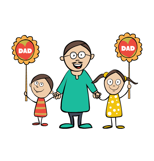 Family house clipart clip art free stock Clip art fathers day boy girl father happy family image #16391 clip art free stock