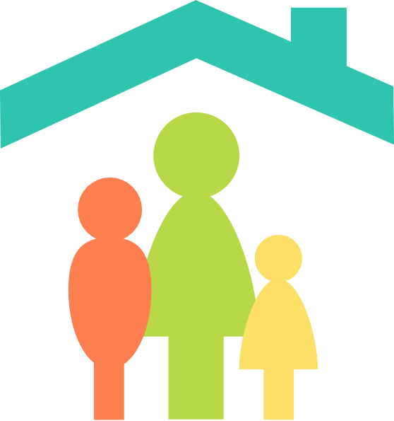 Family in house clipart vector freeuse Family Home Clip Art at Clker.com - vector clip art online, royalty ... vector freeuse