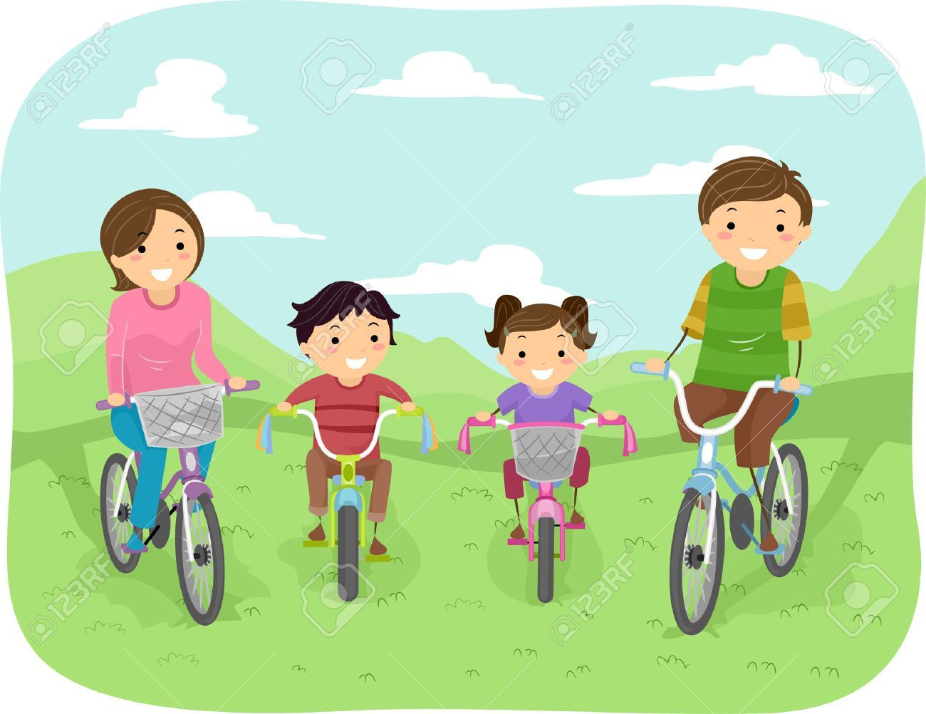 Family park clipart svg black and white stock Family at the park clipart 8 » Clipart Portal svg black and white stock