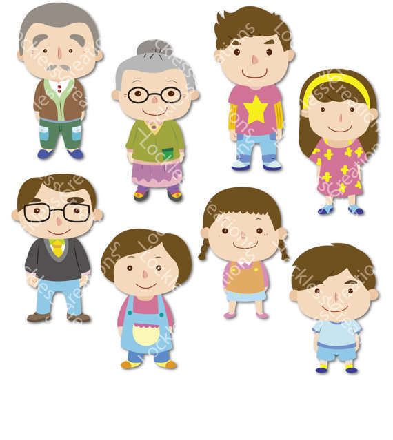 Clipart images of family members clip transparent library Free Family Members Clipart Coloring Pages Free - Clipart1001 - Free ... clip transparent library