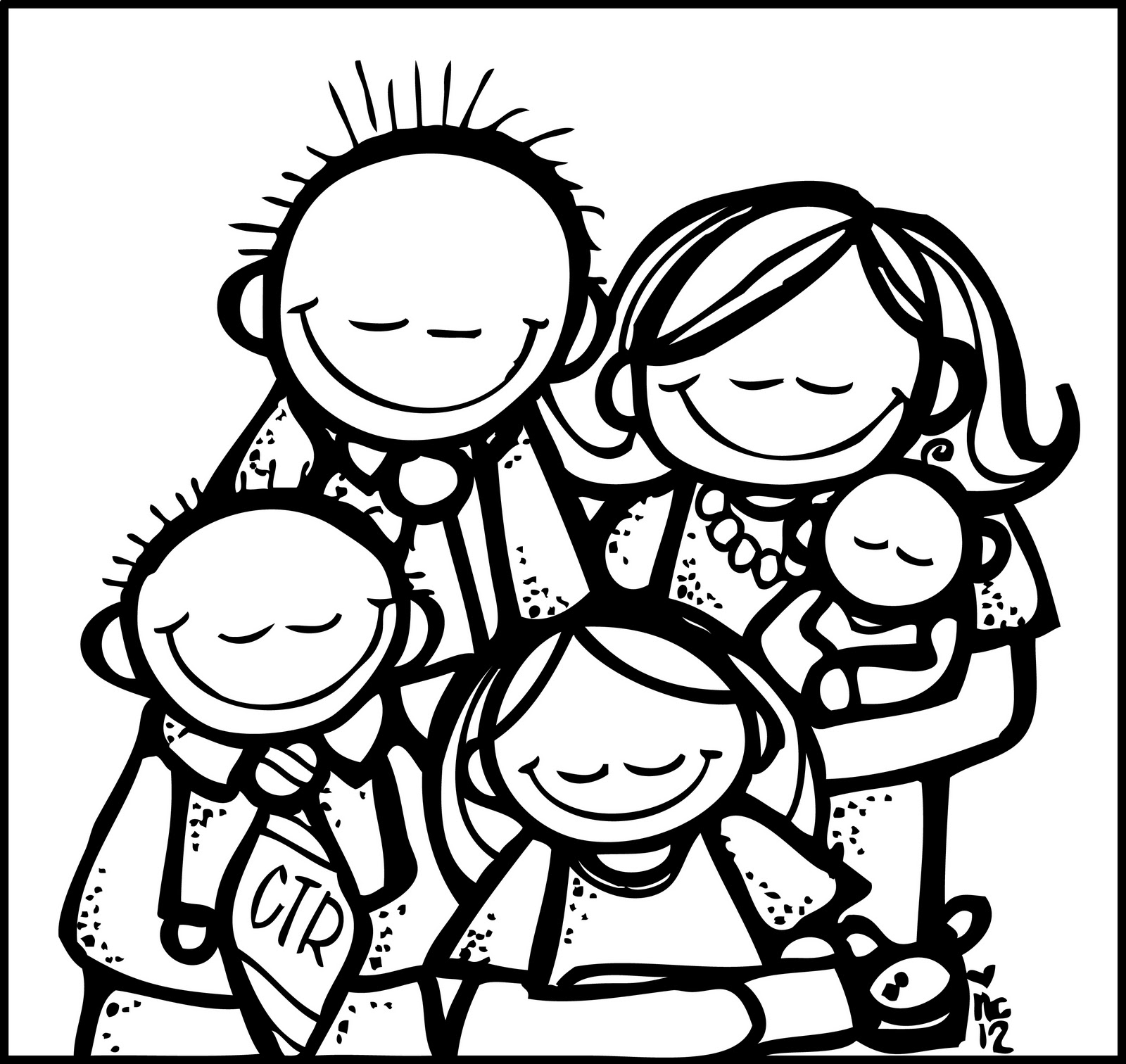 Family of 4 black and white clipart banner royalty free library Lds family clipart black and white 4 » Clipart Station banner royalty free library