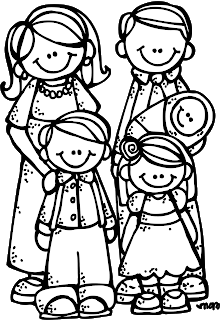 Family of 4 black and white clipart clip art black and white library Melonheadz LDS illustrating: New Eternal Family Graphics ... clip art black and white library