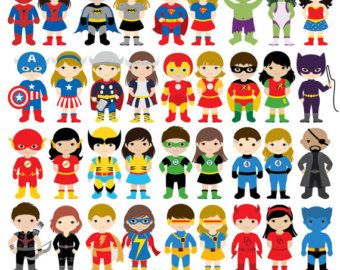 Family of 5 with 4 girls and 1 boy clipart jpg royalty free 17 Best ideas about Boys Superhero Costumes on Pinterest ... jpg royalty free