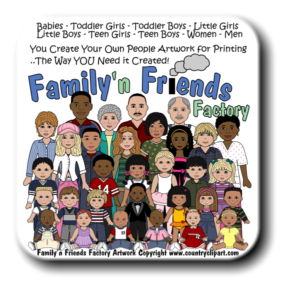 Family of 5 with 4 girls and 1 boy clipart - ClipartFox clipart transparent library