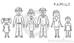 Family of 6 clipart black and white clip art freeuse download Family members clipart black and white 6 » Clipart Portal clip art freeuse download