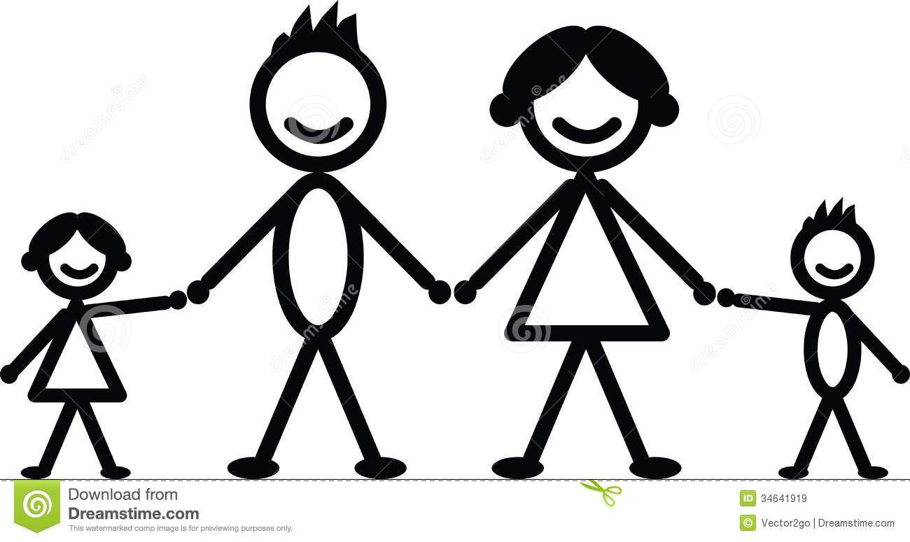Family of 6 clipart black and white image royalty free library Small family clipart black and white 6 » Clipart Portal image royalty free library
