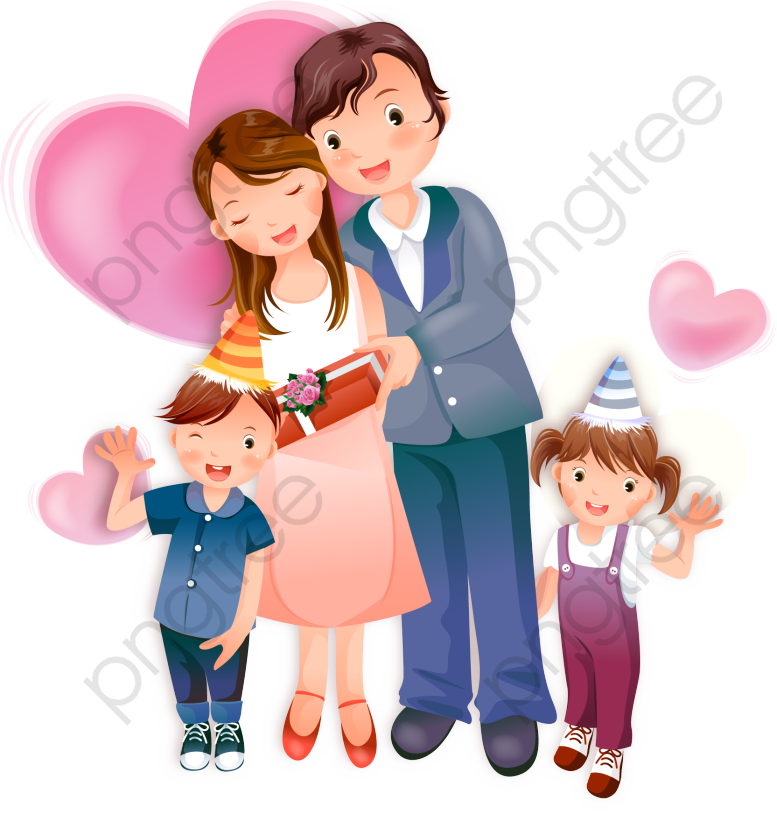 Family of four clipart svg black and white download Family Of Four Png - Family Vector Free - Download Clipart on ... svg black and white download