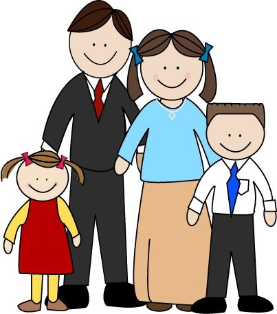 Family of four clipart jpg transparent library Family of four clipart 5 » Clipart Portal jpg transparent library