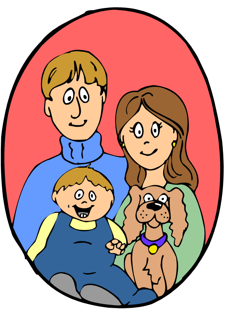 Family of four with dog clipart image transparent stock In the Human Brain, Dogs and Children Are Equally Lovable ... image transparent stock