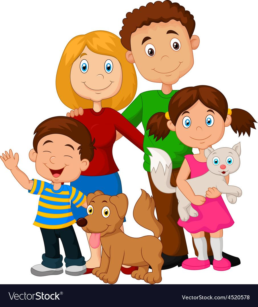 Family of four with dog clipart clipart transparent Pin by Mahmoud OM on Eva | Family vector, Family drawing, Family clipart clipart transparent