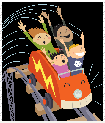 Family on a roller coaster clipart black and white svg library Roller Coaster Physics | Smore Newsletters svg library