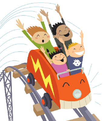 Family on a roller coaster clipart black and white vector transparent library 61 Free Roller Coaster Clipart - Cliparting.com vector transparent library
