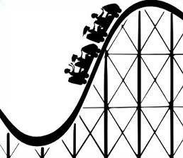 Rollercoaster clipart vector free stock Drawing Of A Roller Coaster | Free download best Drawing Of A Roller ... vector free stock
