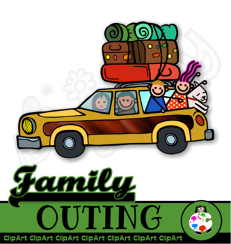 Family outing clipart clip transparent library Family Outing Clip Art Set clip transparent library