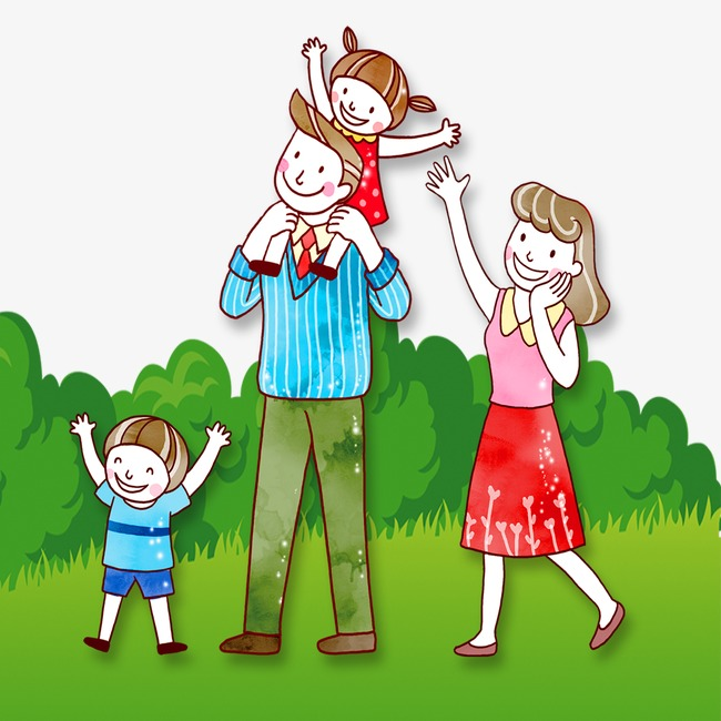 Family outing clipart image black and white stock Download Free png Family Outing, Cartoon, Character, Outing PNG ... image black and white stock