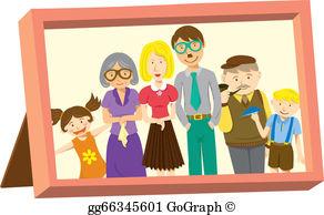 Portrait art clipart clip art freeuse Family Portrait Clip Art - Royalty Free - GoGraph clip art freeuse