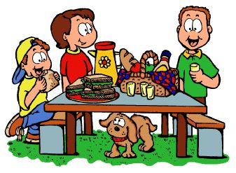 Family picnic clipart picture black and white Family picnic clipart 7 » Clipart Station picture black and white