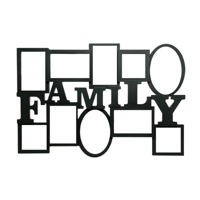 Family picture framed clipart black and white picture library stock Photo montage family photo frame - Pixiz picture library stock