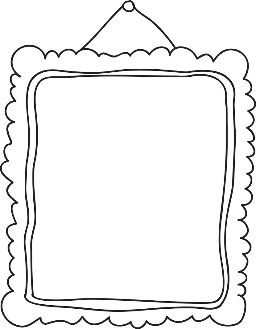 Family picture framed clipart black and white jpg freeuse stock Family picture frame clipart black and white 1 » Clipart Portal jpg freeuse stock