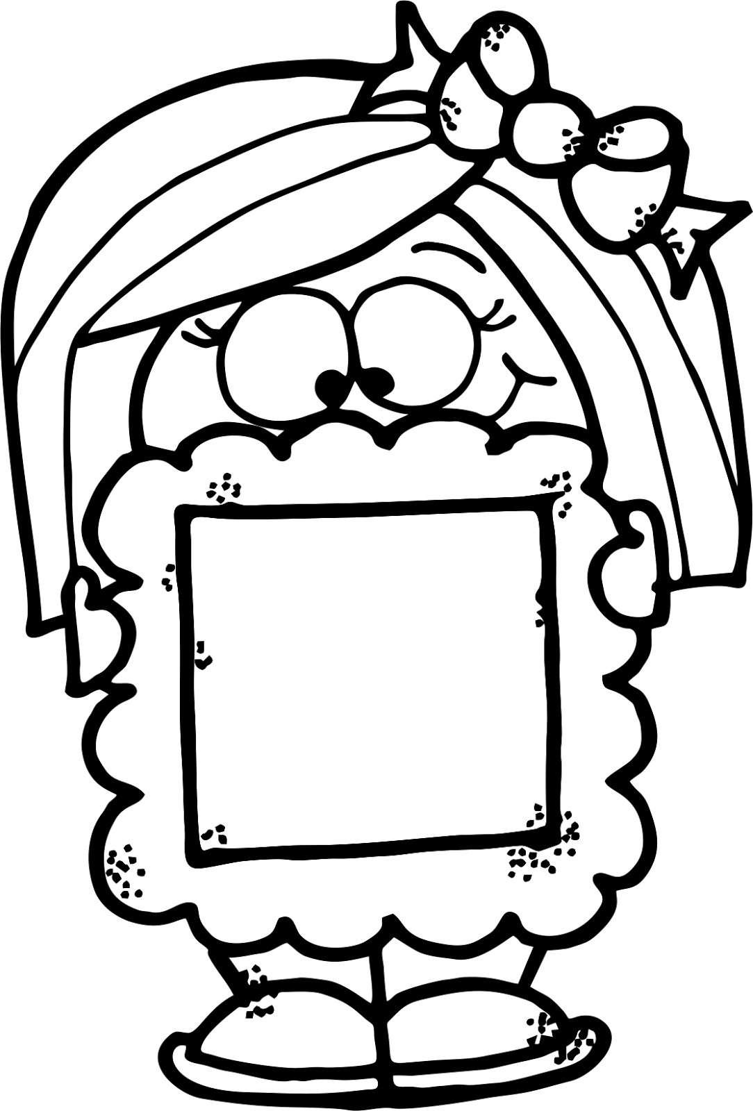 Family picture framed clipart black and white svg transparent download WorksheetJunkie: Free -ut word family clipart and frame kiddos ... svg transparent download