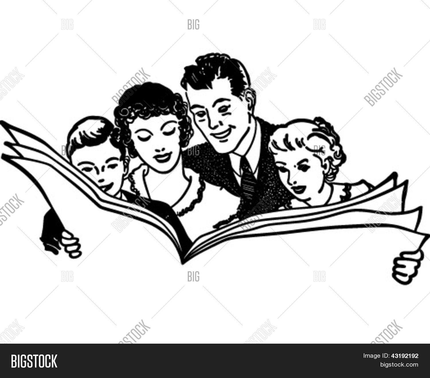 Family reading clipart black and white clip art royalty free download Family reading clipart black and white 5 » Clipart Portal clip art royalty free download