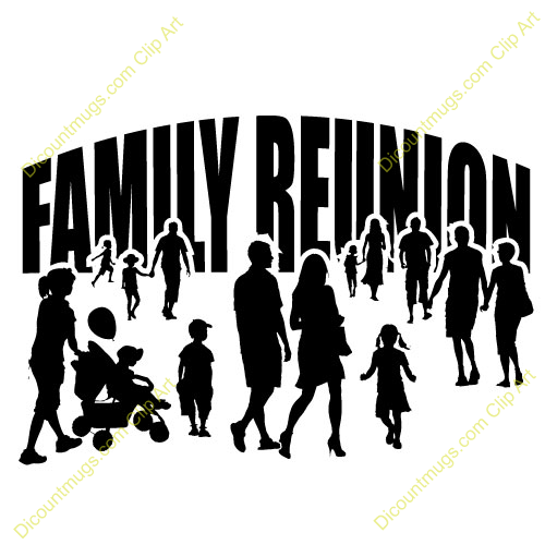 Family reunion clipart picture library download Idea Reunion African American Family Art   Clipart 12445 family ... picture library download
