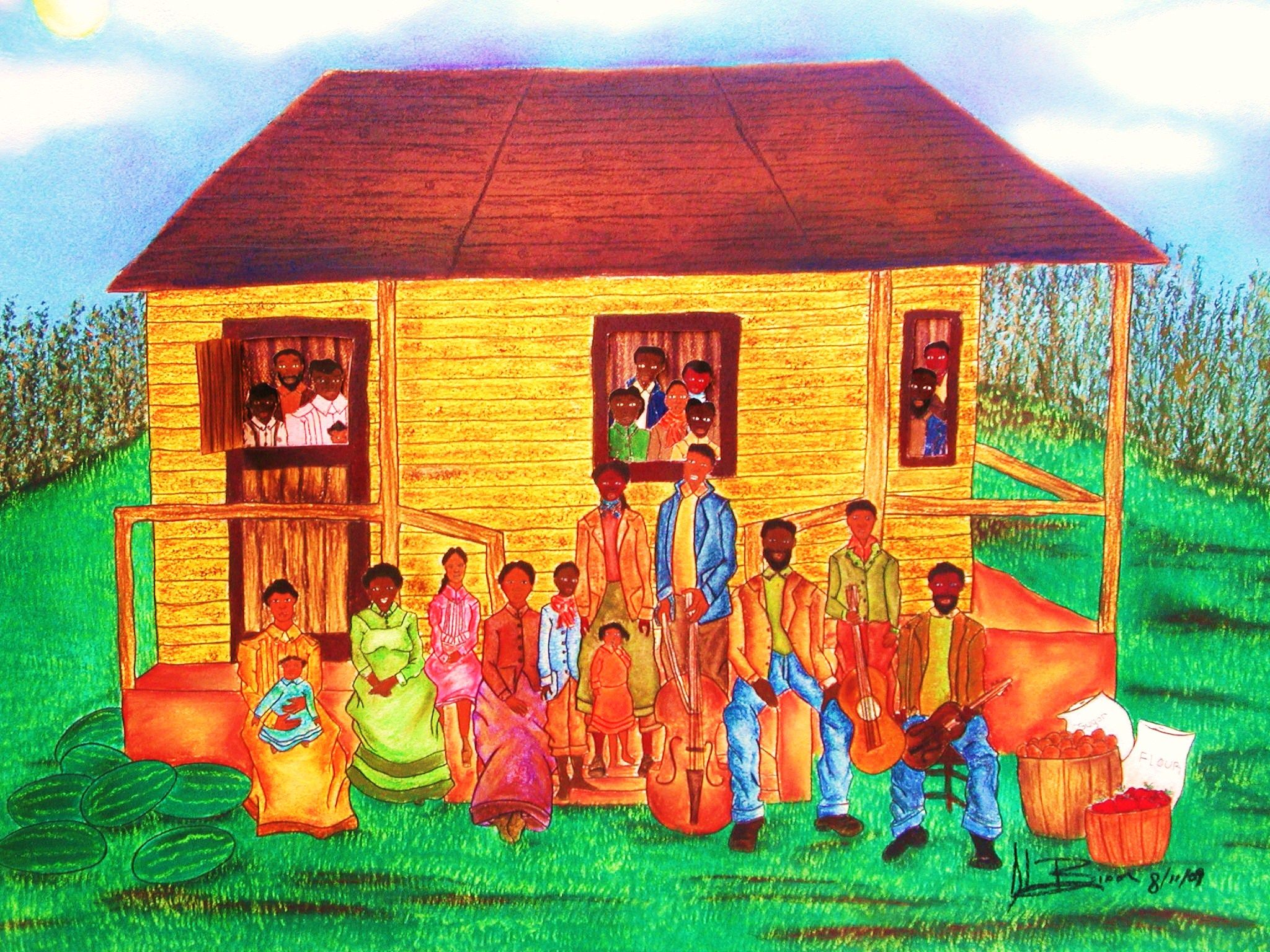 Family reunion cookout clipart image royalty free library Idea Reunion African American Family Art | ... touch with her there ... image royalty free library