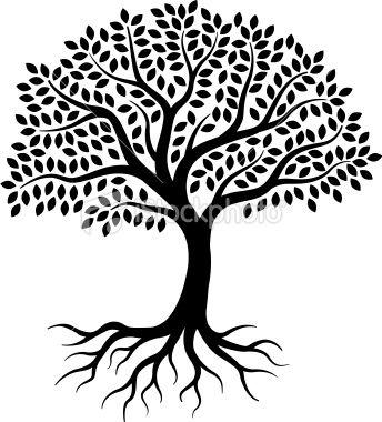 Family reunion tree black and white clipart vector freeuse library Family Tree With Roots | Free download best Family Tree With Roots ... vector freeuse library
