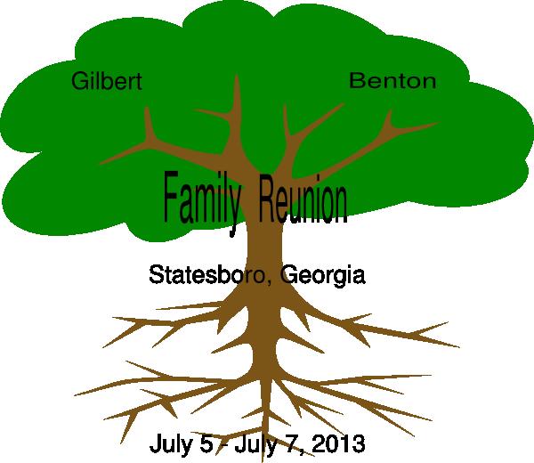Family reunion tree clipart image black and white stock Gilbert Benton Family Reunion Clip Art at Clker.com - vector clip ... image black and white stock