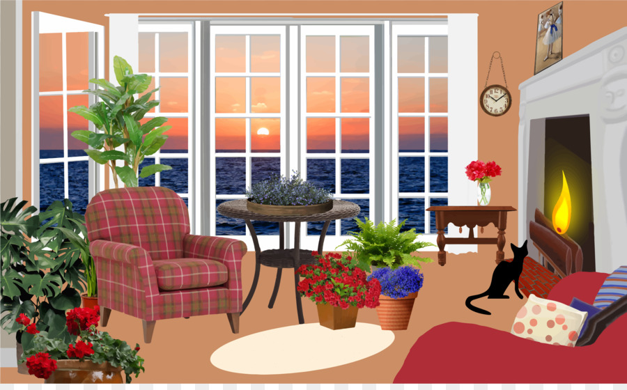 Family room clipart clipart freeuse Real Estate Background png download - 2400*1470 - Free Transparent ... clipart freeuse