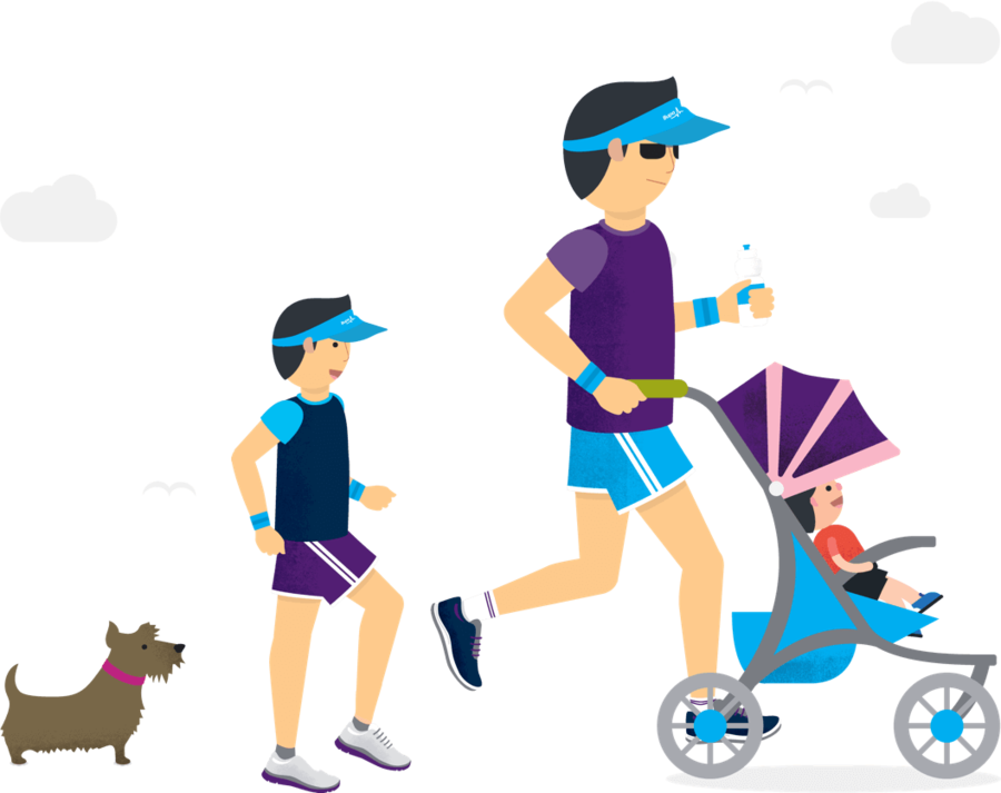Family running clipart clip freeuse download Family Illustration clipart - Family, Running, Illustration ... clip freeuse download