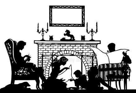 Family sitting in front of fire clipart freeuse library Silhouette of Family IN Front of Fire premium clipart - ClipartLogo.com freeuse library