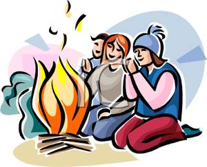 Family sitting in front of fire clipart stock Sitting By The Fire Clipart - Free Clipart stock