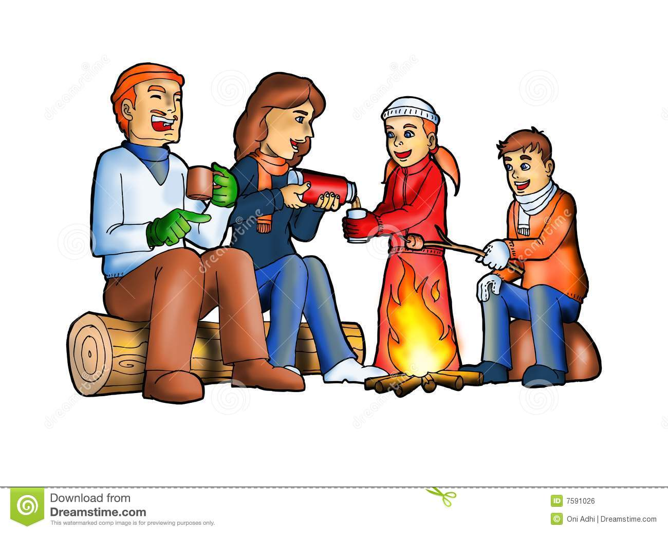 Family sitting in front of fire clipart clip transparent Picture Of A Camp Fire | Free download best Picture Of A Camp Fire ... clip transparent