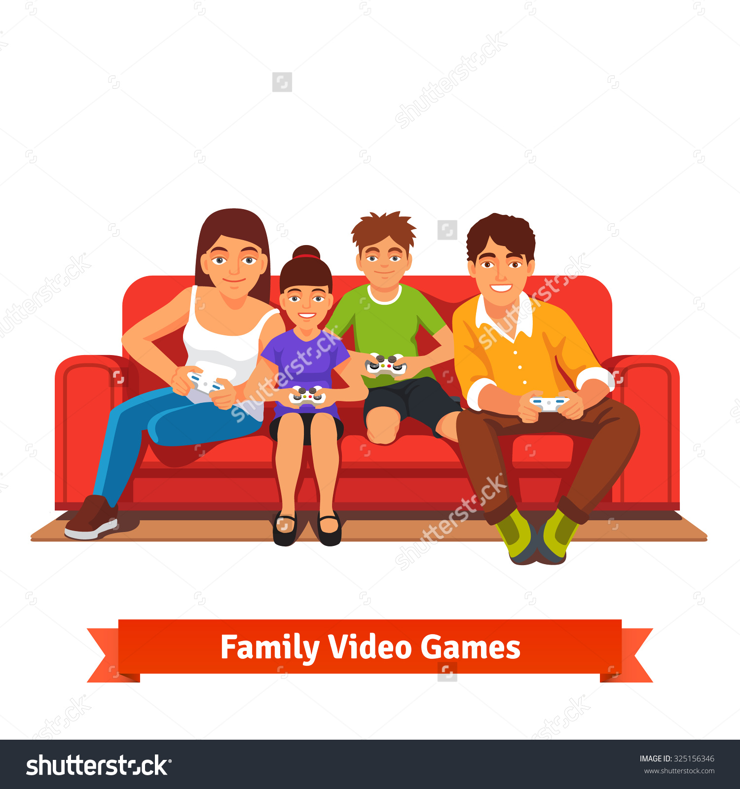 Family sitting on couch clipart graphic freeuse download Family Sitting On Couch Clipart (61 ) - Free Clipart graphic freeuse download