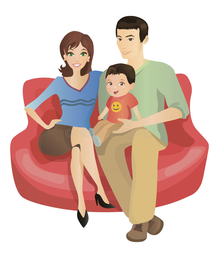 Family sitting on couch clipart png royalty free Sofa clipart family - 17 transparent clip arts, images and pictures ... png royalty free