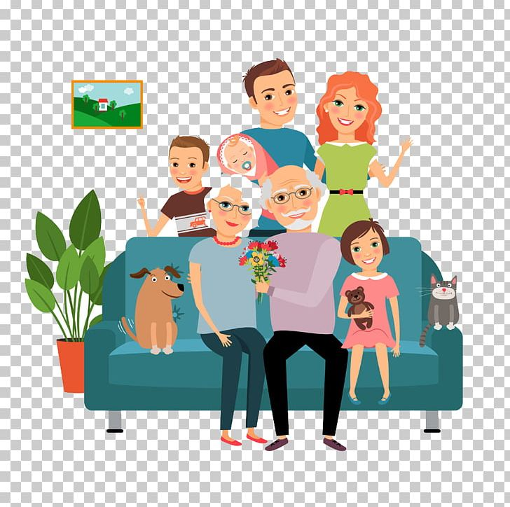 Family sitting on couch clipart picture freeuse stock Family Couch Father Illustration PNG, Clipart, Art, Cartoon, Cartoon ... picture freeuse stock