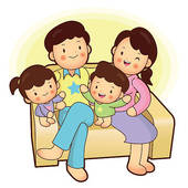 Family sitting on couch clipart freeuse download Happy family sitting in couch   Clipart Panda - Free Clipart Images freeuse download