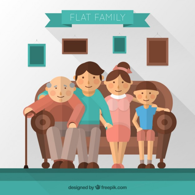 Family sitting on couch clipart clip transparent Flat family sitting on a couch   Stock Images Page   Everypixel clip transparent