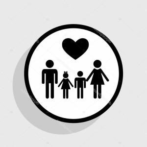 Family symbols clipart clip transparent download Icon Of House With Family Inside Mortgage Symbol Vector Clipart ... clip transparent download